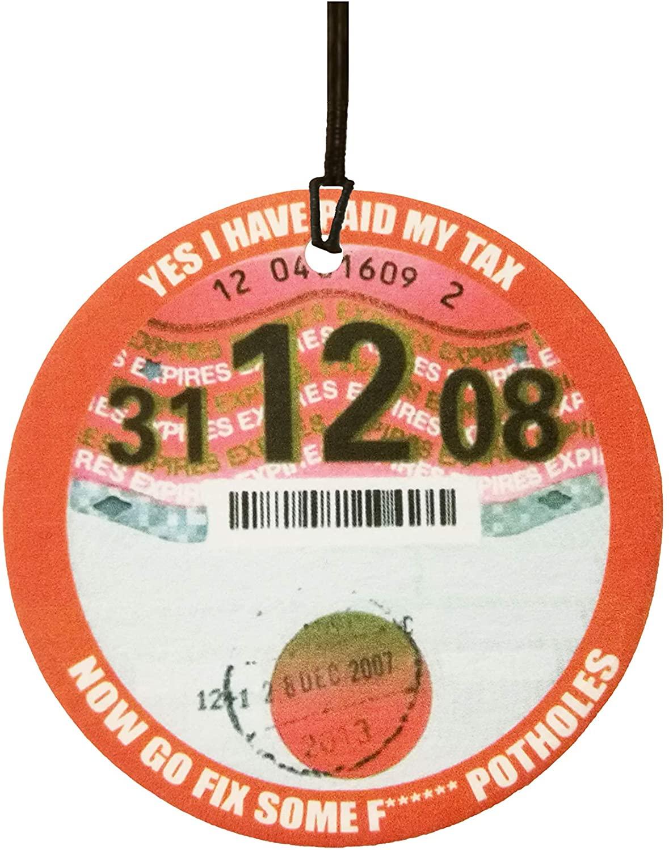 Novelty Road Tax Car Air Freshener