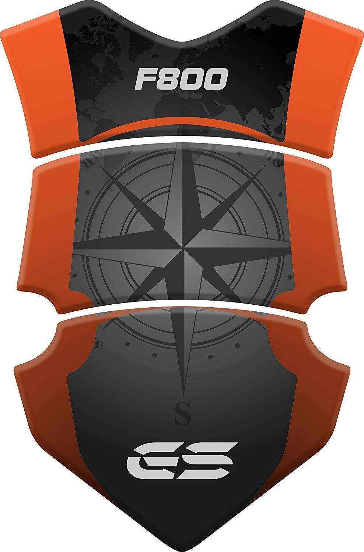 Stickers for fuel tank tankpad 3D effect resin adhesive sticker compatible with BM.W BM.W F 800 GS ADV Adventure F800 Orange