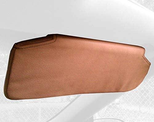 RedlineGoods Sun Visor Covers Compatible with Chevrolet Camaro 1997-02. Medium Gray Leather-Black Thread