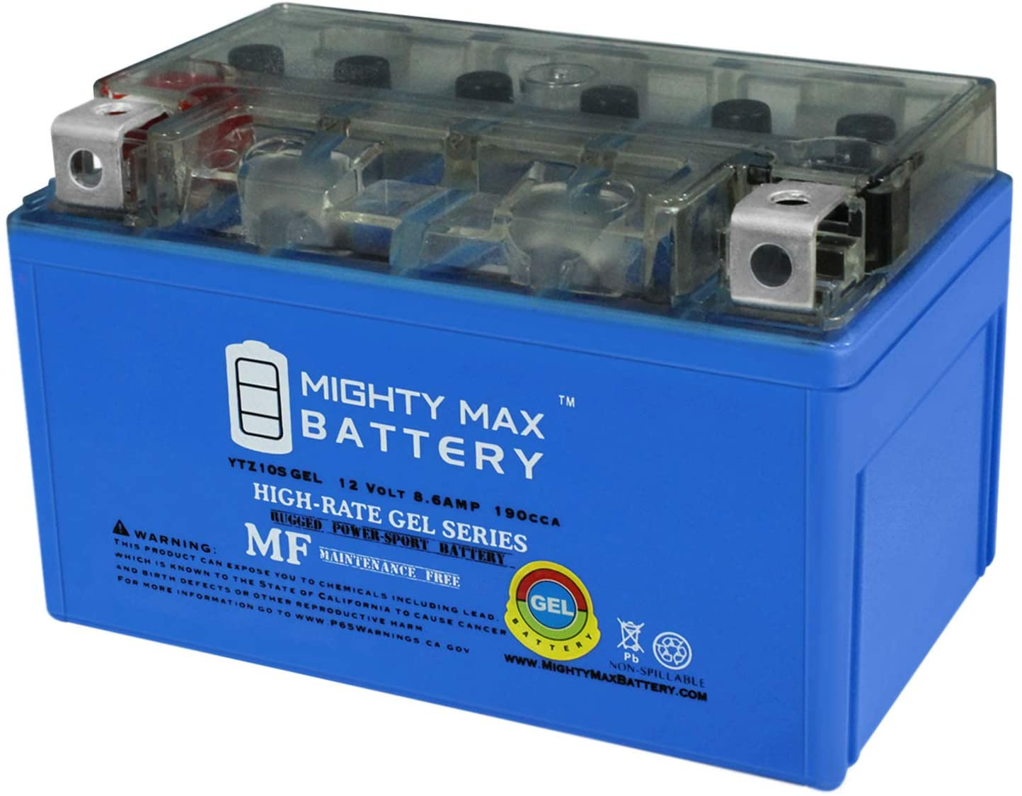 Mighty Max Battery 12V 8.6AH 190CCA Gel Battery for MV Agusta Brutale 2006-2009 910 Brand Product