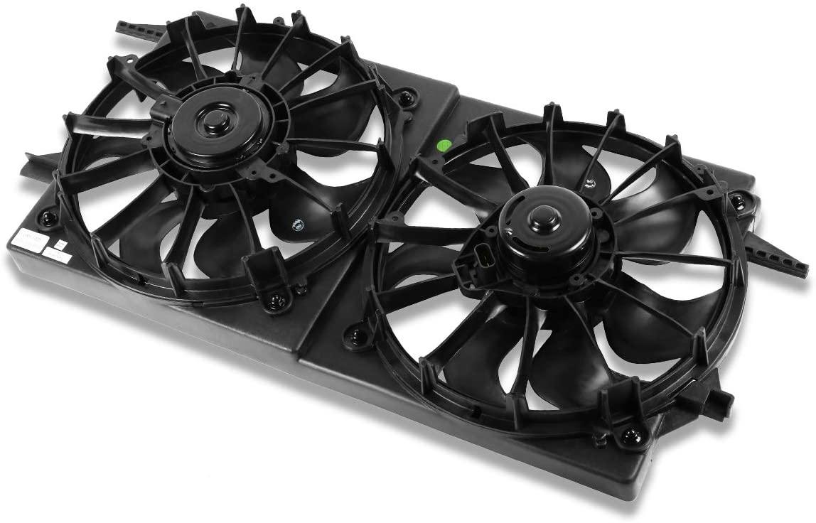 GM3115105 OE Style Radiator Cooling Fan Assembly Replacement for Malibu Grand Am Alero Cutlass 2.2L 2.4L 3.1L 3.4L 97-03