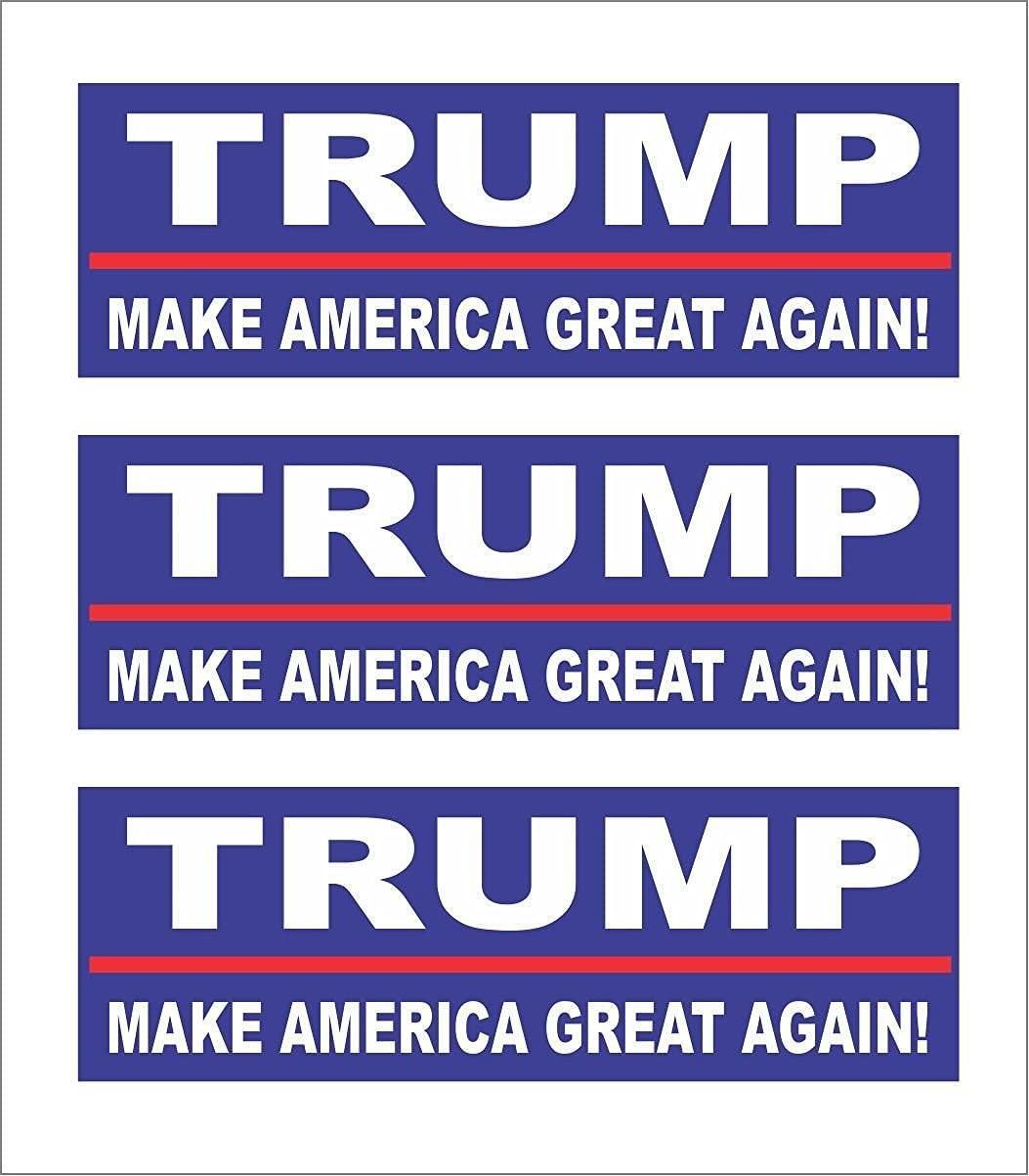 ExpressDecor (3) Trump Make America Great Again Computer Laptop Symbol Decal Family Love Car Truck Sticker Window Hard Hat Motorcycle Biker Helmet Stickers