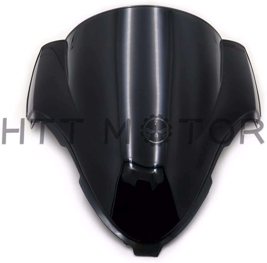 HTTMT CFP-1031-3- Double Bubble Windshield Windscreen Compatible with Suzuki Hayabusa GSX1300R 1999-2007