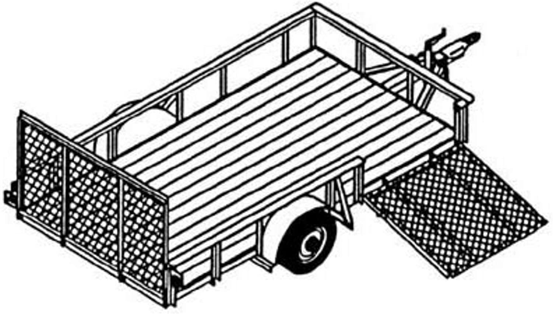 Trailer Blueprints - Utility Axle