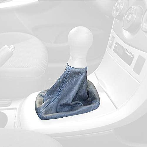 RedlineGoods Shift Boot Compatible with Toyota Corolla 2008-13. Black Alcantara-Red Thread