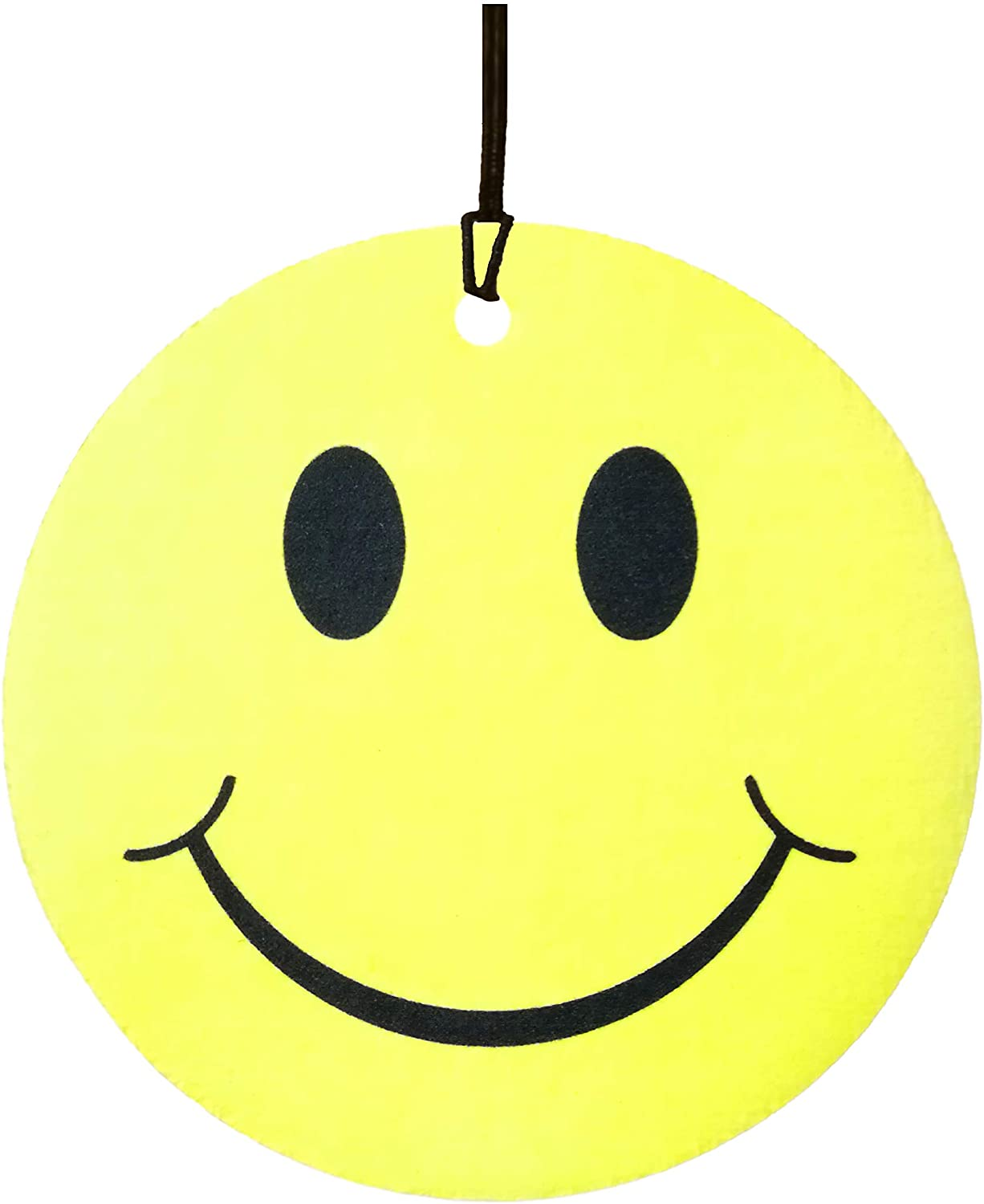 Yellow Smiley Face Car Air Freshener