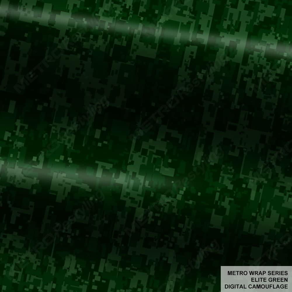 Metro Wrap Series Elite Green Digital Camouflage 1ft x 1ft (1 sq/ft) Camo Vinyl Car Wrap Film