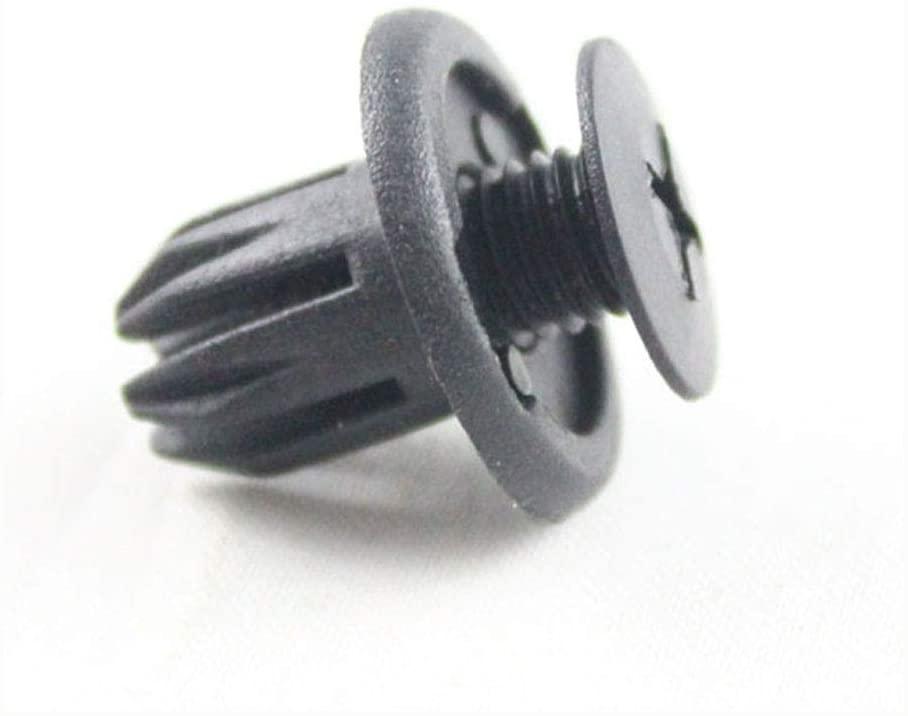 762 Car Screw Type Push in Bumper Retaining Clip Fastener Retainer Rivet 10mm Hole for Ford Honda Acura Opel Chery