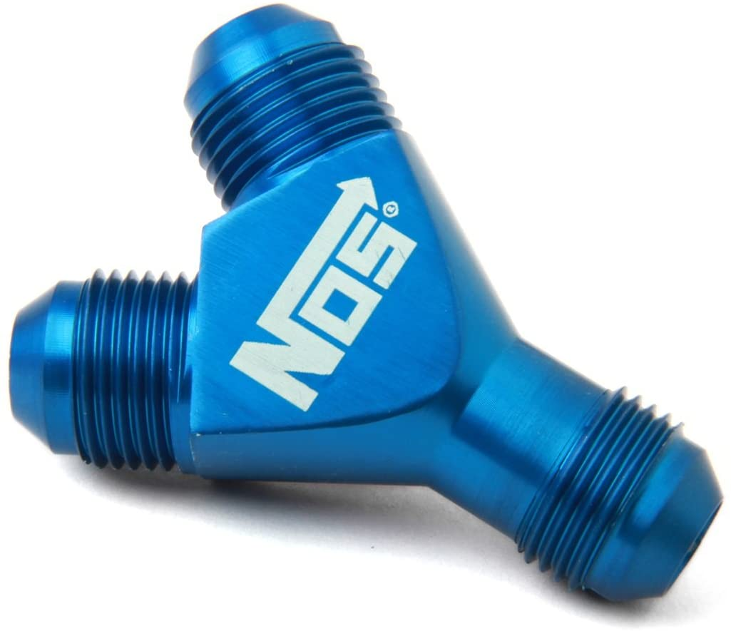 NOS 17842 Blue Anodized Aluminum -8AN Flare to Pipe Fitting