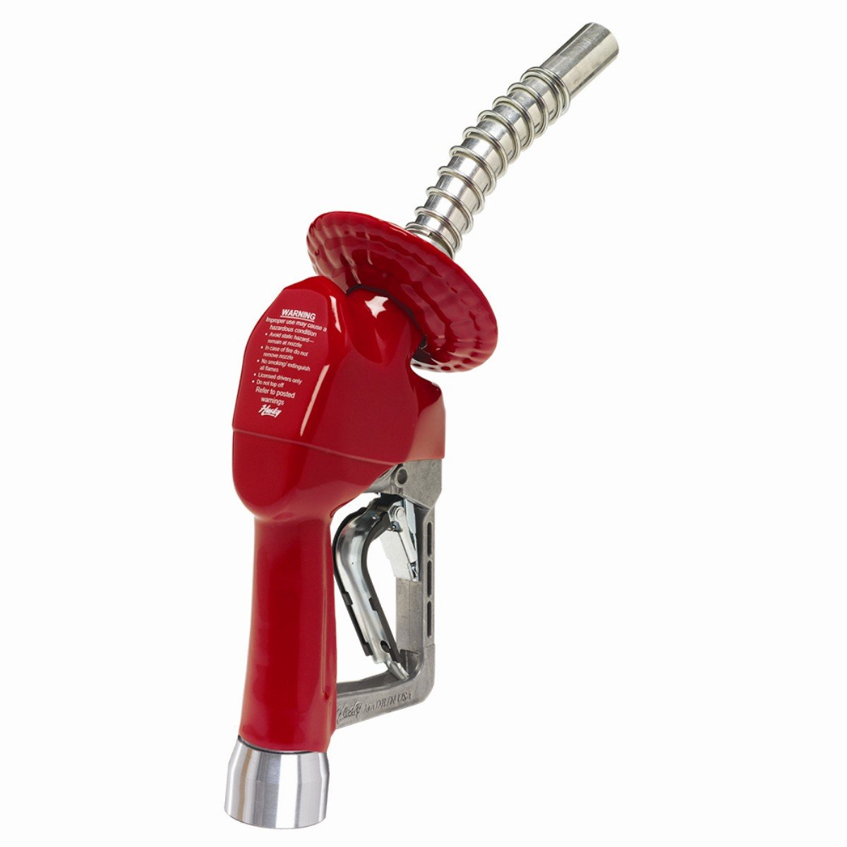 Husky 159560-02 XS Pressure Activated MFM Light Duty Diesel Nozzle with Three Notch Hold Open Clip and no. 1808 Waffle Splash Guard