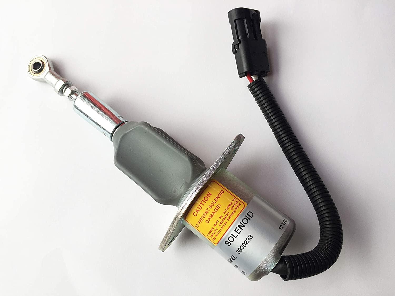 Blueview Diesel shut off solenoid 3930233,12V SA-4335-12 for Cummins 6BT 5.9L & 6CT 8.3L