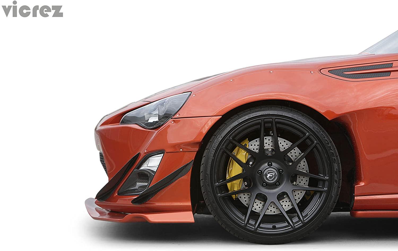 Vicrez Scion FRS/Subaru BRZ 2013-2016 VZ Carbon Fiber 4 Piece Canards vz100448
