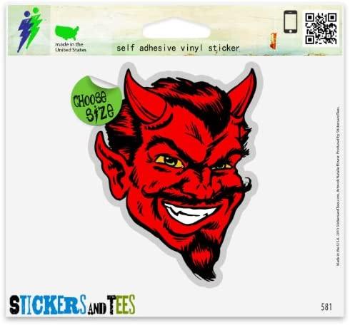 Red Devil Satan Vinyl Car Bumper Window Sticker 3