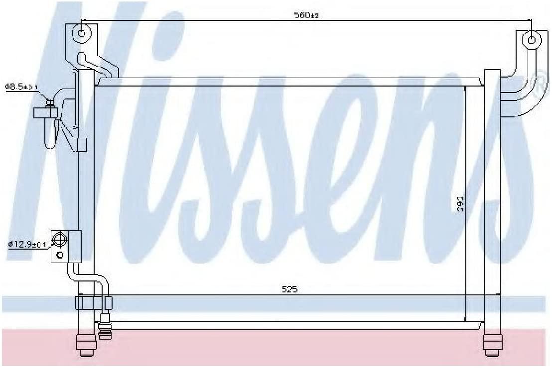 Nissens 94729 Condenser, air conditioning