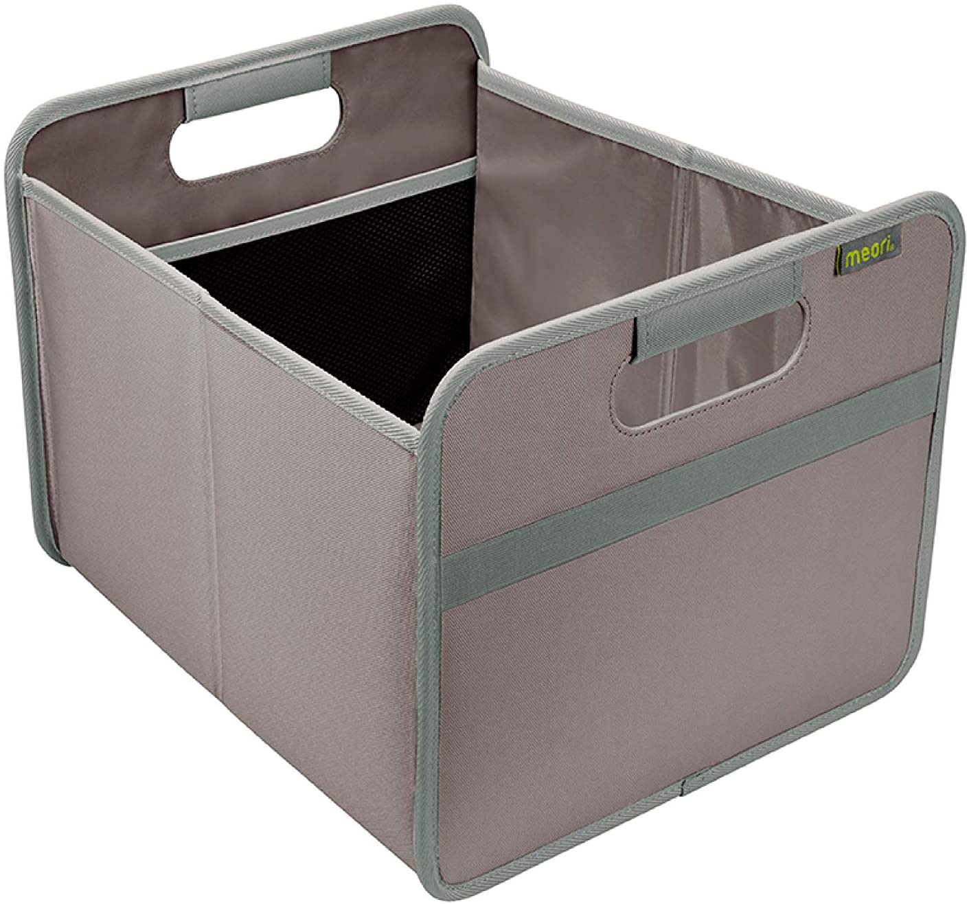 meori Palm Taupe/Pantry Clever Containers Closet Nursery Linens Towels Farmers Market up to 65lbs Medium Foldable Storage Box, 1-Pack