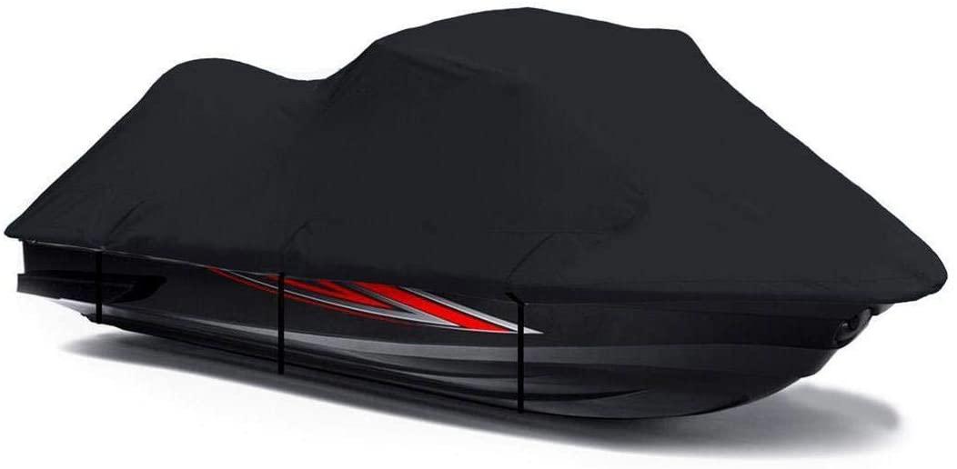 Black 600 Denier Jetski Cover for Yamaha FX Cruiser Waverunner 2002-2010 Jet Ski PWC Cover