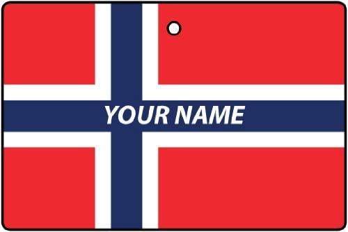 Norway Flag Custom Car Air Freshener