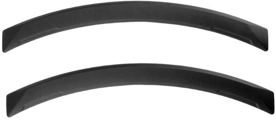 LKXHarleya 2pcs Universal Car Wheel Fender Flares Flexible Durable Auto Mud Flaps Splash Guards Car Front Rear Wide Wheel Arch Replacement Parts Accessories