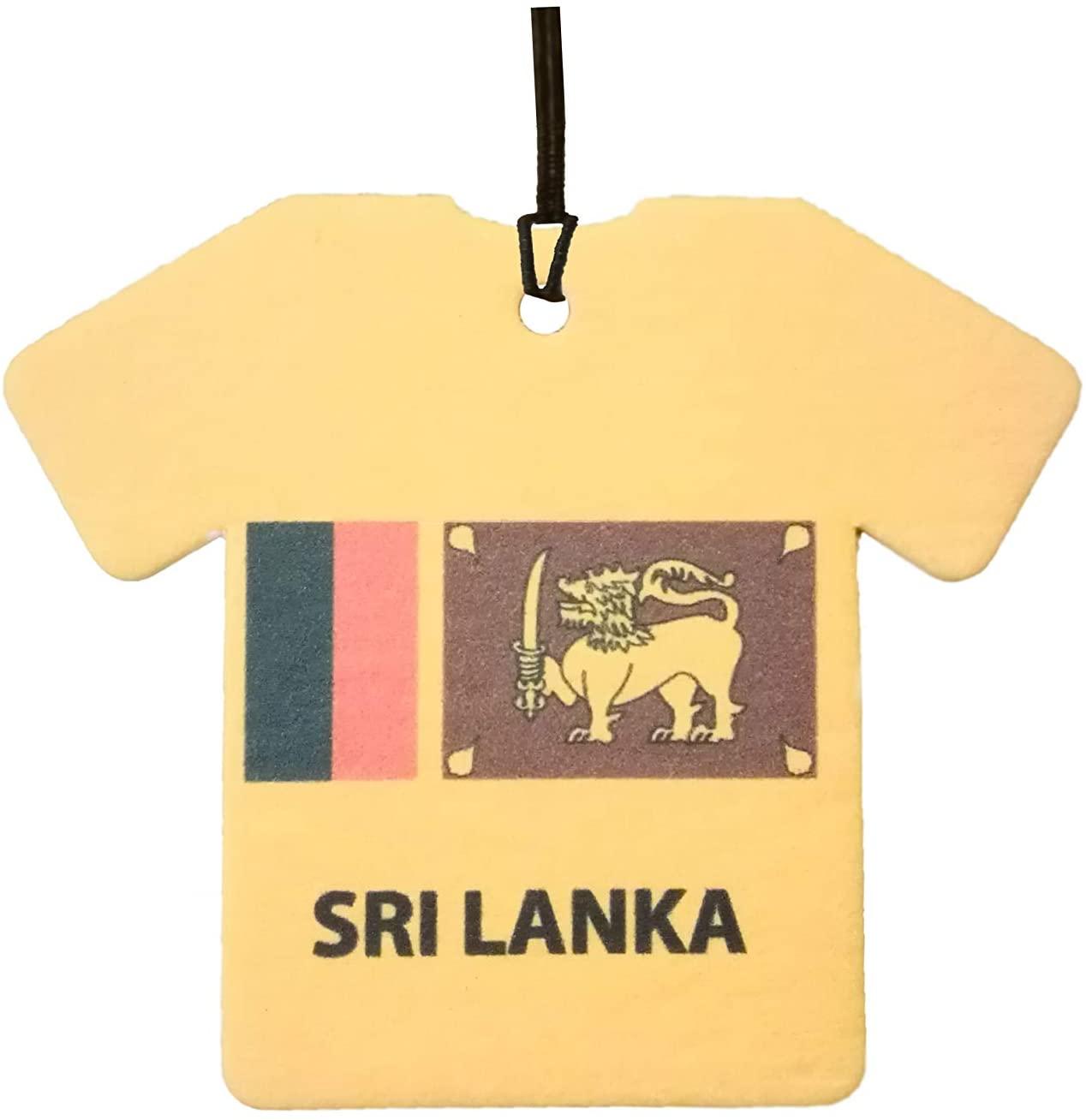 Personalized Sri Lanka Flag Jersey Car Air Freshener