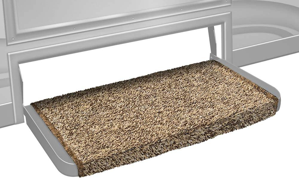 Prest-O-Fit 2-0071 Wraparound + Plus RV Step Rug Brown 20 In. Wide