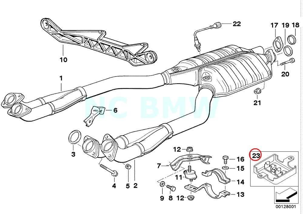 Genuine BMW E31 E38 E39 Lambda Probe Oxygen Sensor Bracket OEM 12521702965