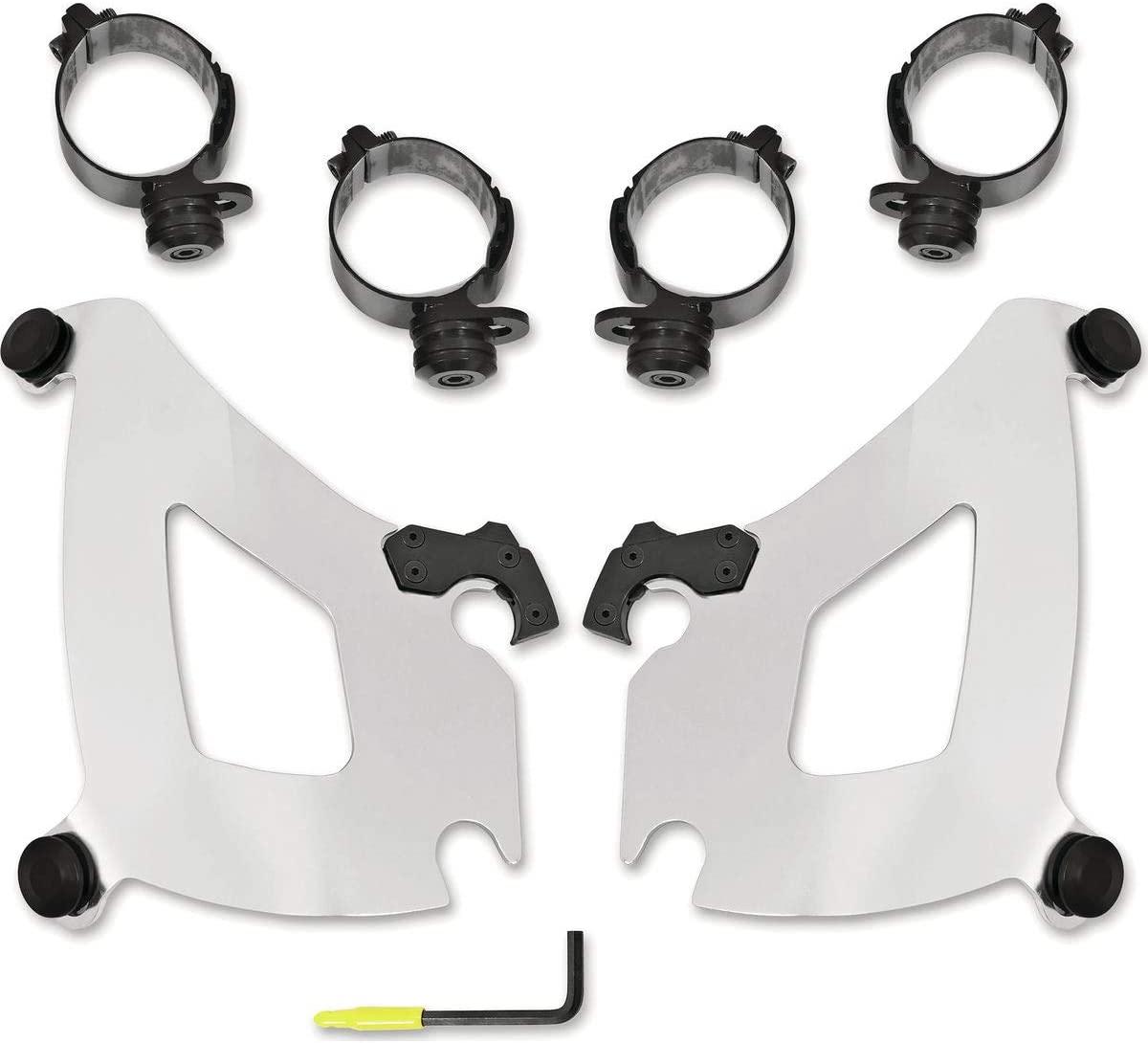 Memphis Shades Trigger-Lock Mounting Kit (Polished/Bullet Fairing) for 18-20 Harley FLSB