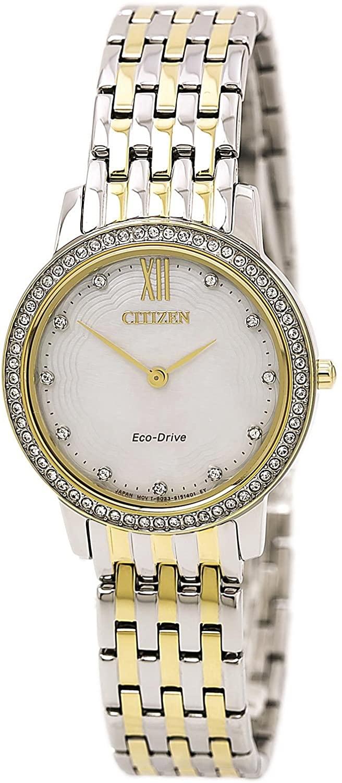 Citizen Silhouette Crystal Eco-Drive Movement MOP Dial Ladies Watch EX1484-57D