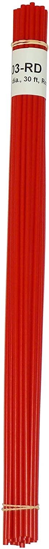 Polyethylene (LDPE) Plastic Welding Rod, 1/8 Diameter, 30 Ft, Red