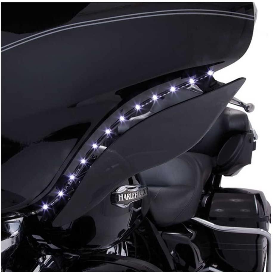 Ciro 45101 Black/Amber LED Bat Blades for 2006-2013 Harley-Davidson FLH Touring Models