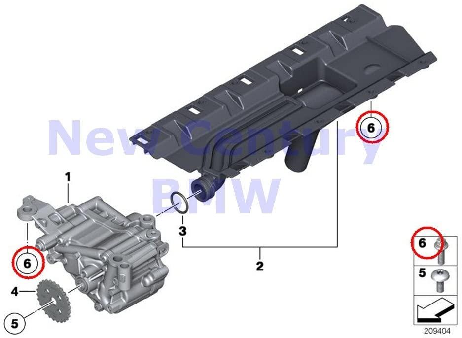 BMW Genuine Lubrication System/Oil Pump Set Of Aluminium Screws Oil Pump X5 35iX X6 35iX 135i X1 35iX 135i 335i 335xi 335i 335xi 335i 740i 740Li 740LiX Hybrid 7L 640i 640iX 640i 640iX 535i 535iX 535i