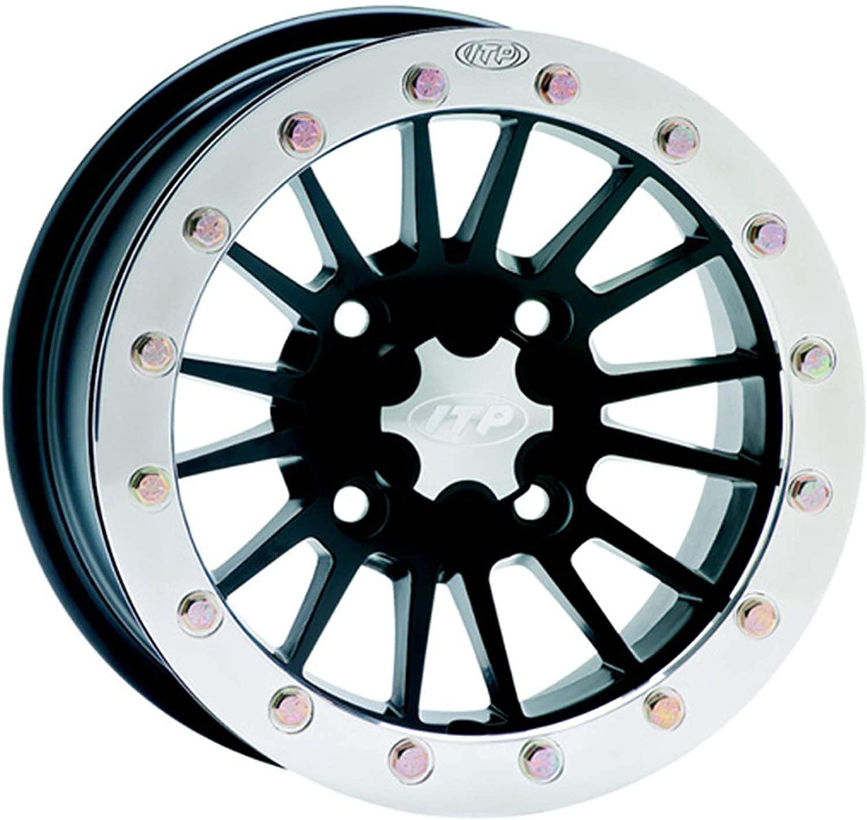 SD-Series Single Beadlock Wheel - 14x7-4+3 Offset - 4/137 - Matte Black Fits 2004 Bombardier Outlander Max 400 HO