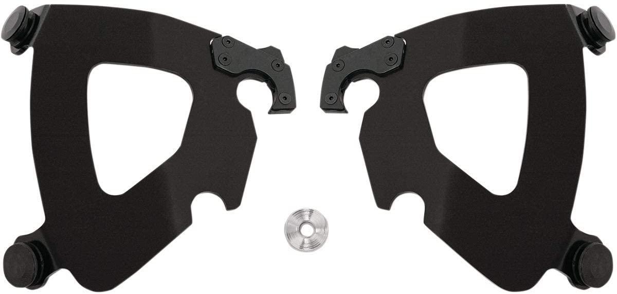 Memphis Shades Trigger-Lock Plate-Only Kit (Black/Gauntlet Fairing) for 14-17 Harley FXDL