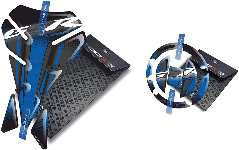 Fooqs Tankpad and Cappad V1 for Suzuki GSR 600, 650, 750 (Blue)
