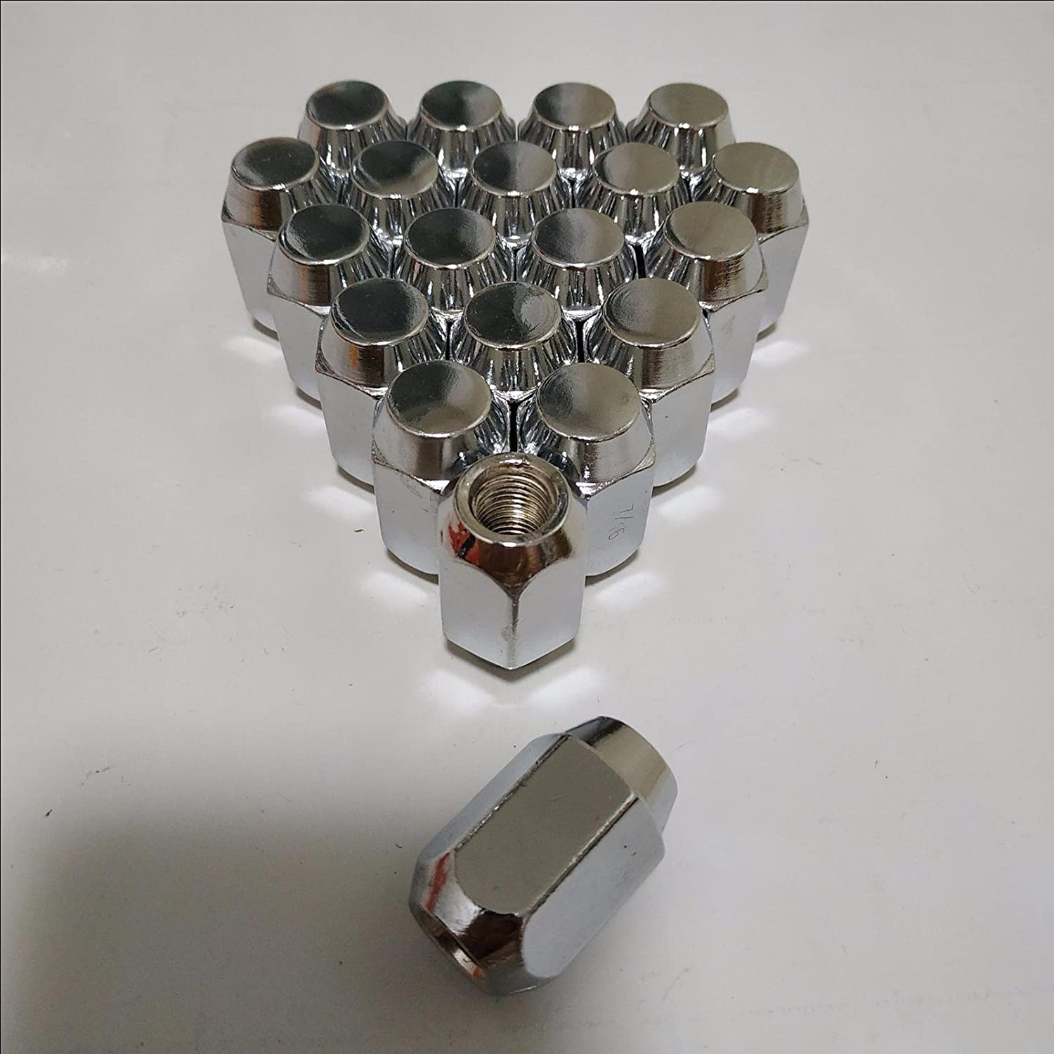 1 Set of 20 Chrome M12x1.75 Wheel Lug Nuts fit 2008 Ford Expedition May Fit OEM Rims, Buyer needs to review the spec