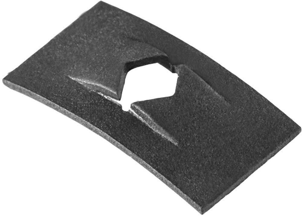 Clipsandfasteners Inc 100 Flat Nuts 3/32 Stud Size 1/4 X 7/16