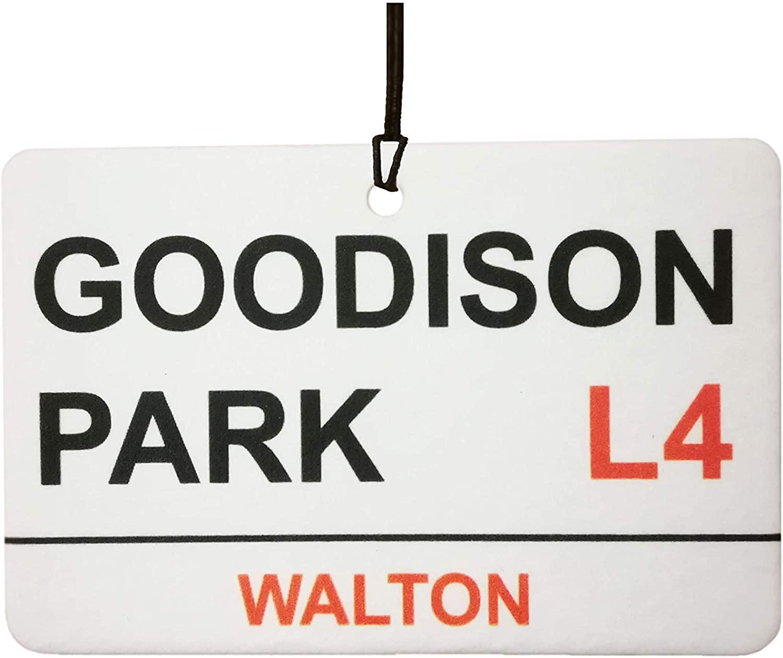 Everton/Goodison Park Street Sign Car Air Freshener