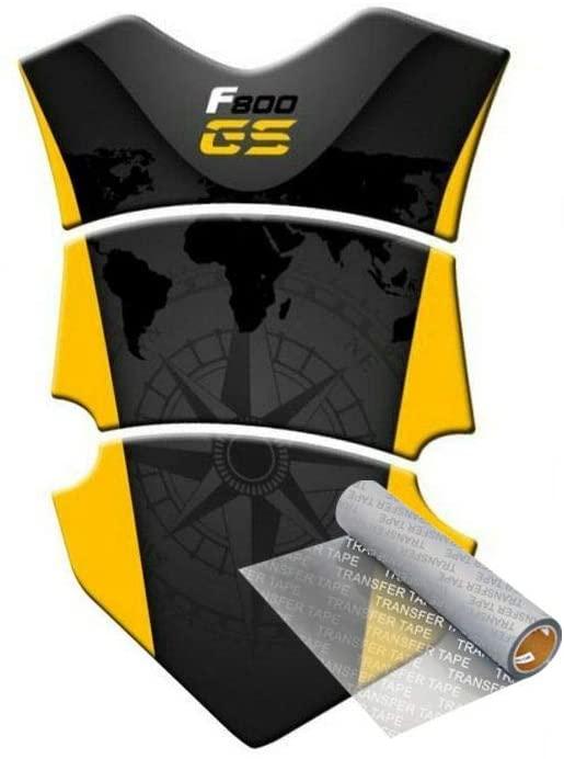 Tankpad for B.MW F 800 GS ADv Adventure 2013-2014 (Black/Yellow)