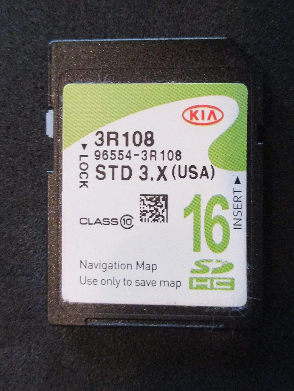 3R108 2015 2016 KIA CADENZA Navigation MAP Sd Card ,GPS UPDATE , OEM PART # 96554-3R108 16GB OEM PART