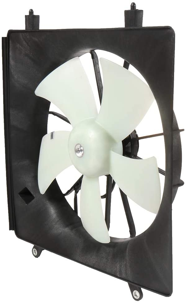 QINCHYE Engine Radiator/Condenser Cooling Fan Assembly compatible with 2002-2006 Honda CR-V 2003-2011 Honda Element