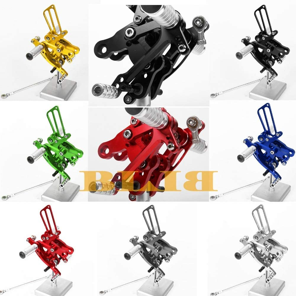 Frames & Fittings CNC Aluminum Foot Pegs Rearsets Rear Sets Brake Shift for Honda CBR400RR NC29 1993-1999 Motorcycle Adjustable Hot Sale - (Color: Titanium)