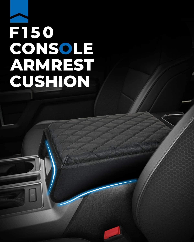 ISSYAUTO 2015-2020 F150 Center Console Cushion Armrest Cover Arm Rest Cushion Pad