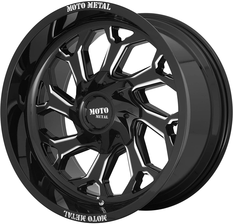 MOTO METAL MO999 GLOSS BLACK MILLED MO999 20x10 8x180.00 GLOSS BLACK MILLED (-18 mm) AFTERMARKET RIM