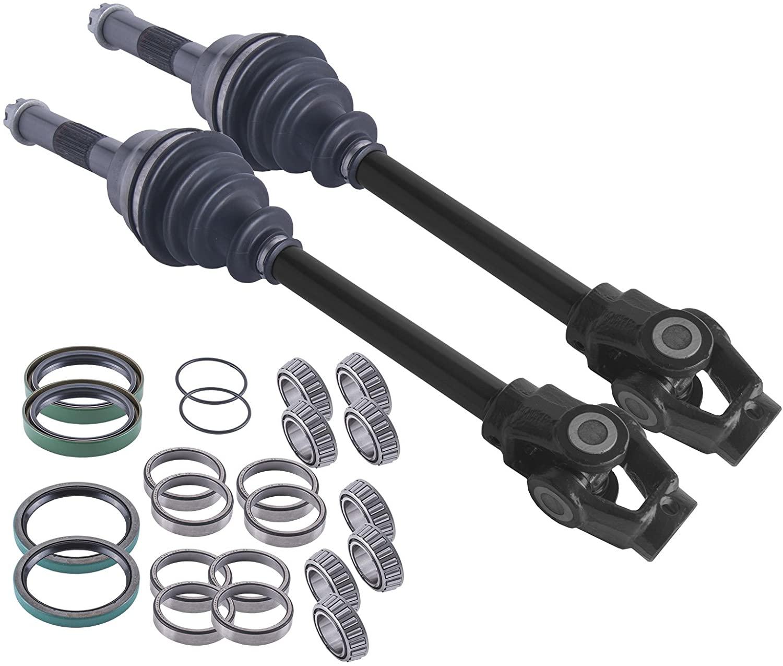 East Lake Axle front cv axles & wheel bearings set compatible with Polaris Big Boss 400L /500 1995-2002