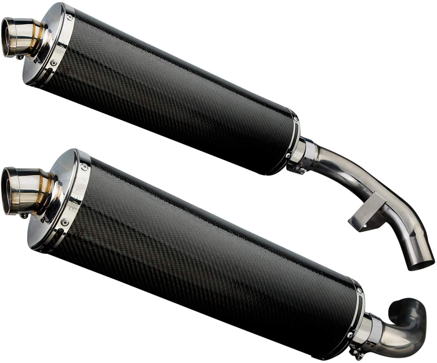 Delkevic Aftermarket Slip On compatible with Honda ST1100 (1991-2002) with 18