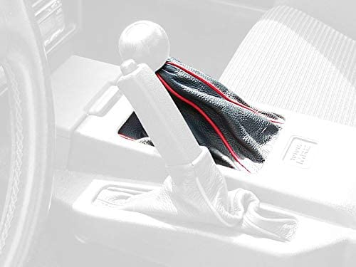 RedlineGoods funda para Freno de Mano Compatible with Toyota MR2 1985-89. Cuero Negro Costura Azul