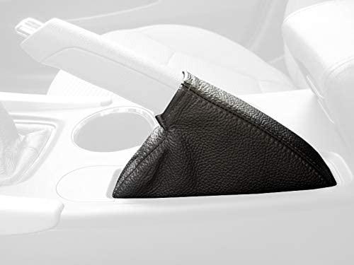RedlineGoods funda para Freno de Mano Compatible with Hyundai Sonata 2011-14. Cuero Negro Costura Azul