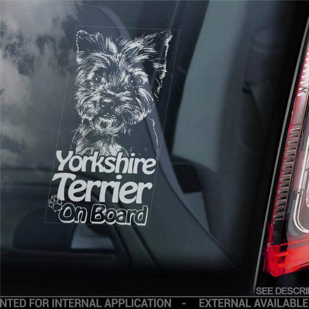 DONL9BAUER White Shepherd on Board Car Window Sticker American Canadian Dog Sign Decal for Cars Trucks Bumpers Laptops