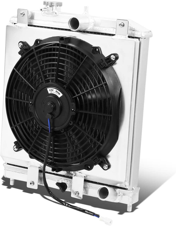 Replacement for Honda Civic/Del Sol (Manual Transmission) 2-Row Aluminum Radiator + 12V Fan Shroud