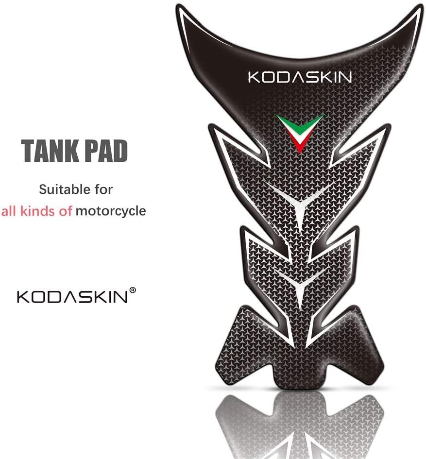 PRO-KODASKIN Motorcycle Tank Pad Traction Grips, Universal-Black