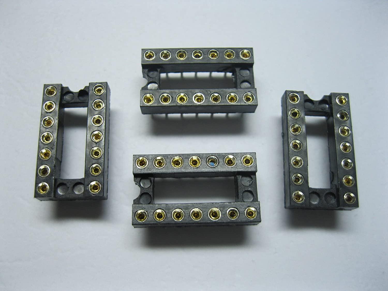 200 pcs Pitch 2.54mm IC Socket Adapter 14 pin Round DIP High Quality